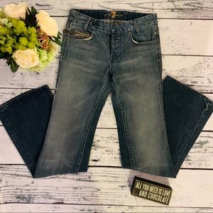 7 FOR ALL MANKIND BOOTCUT JEANS W/ SIDE POCKET 25